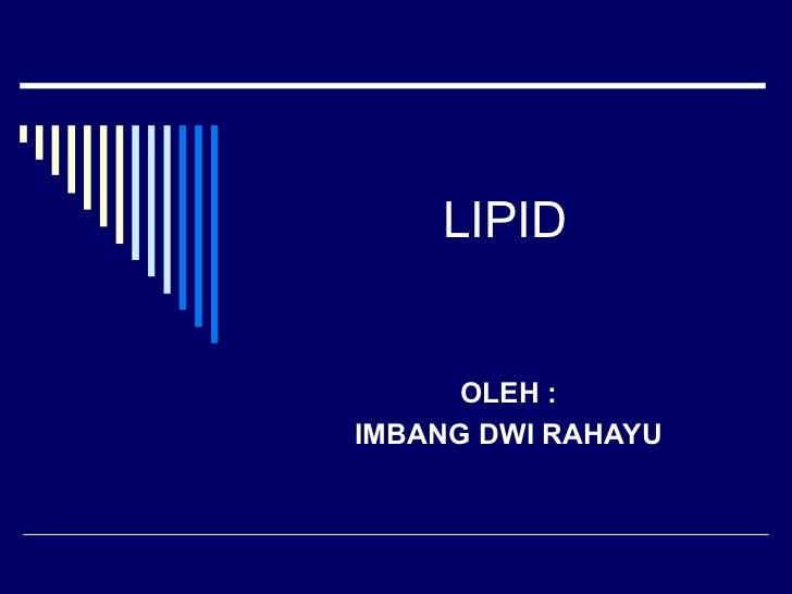 materi biokimia LIPID