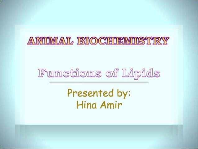 Lipid functions