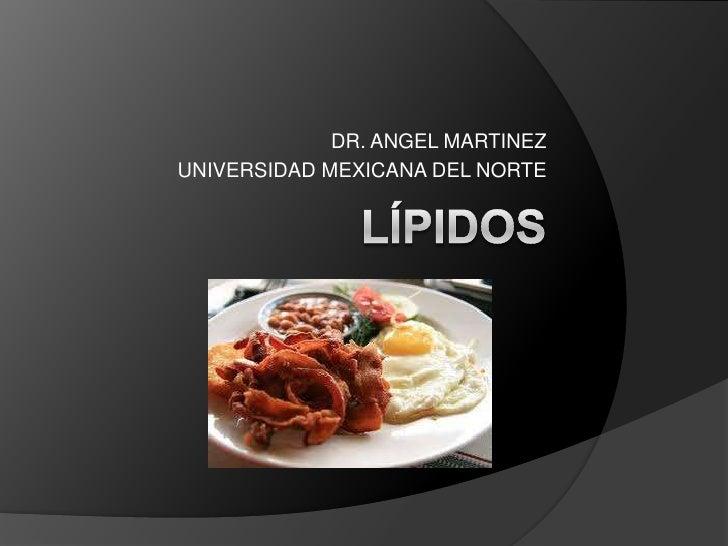 DR. ANGEL MARTINEZ<br />UNIVERSIDAD MEXICANA DEL NORTE<br />Lípidos <br />