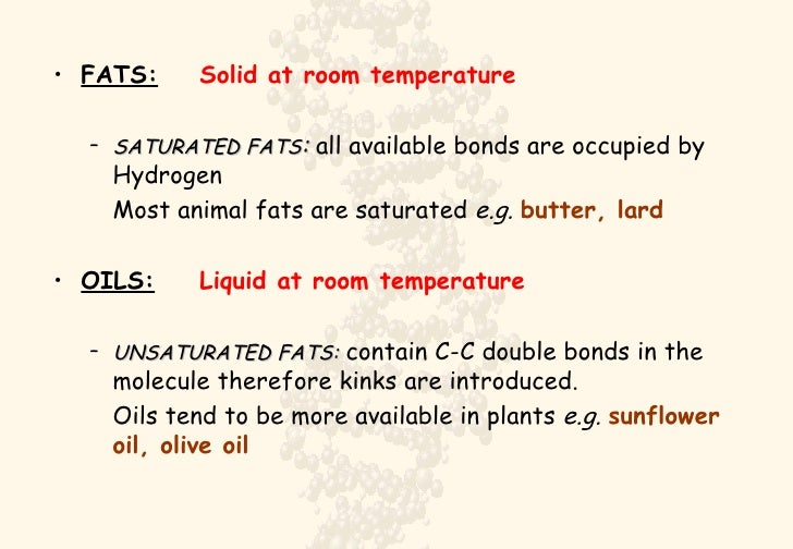 Liquid Fats At Room Temperature