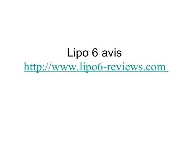 Lipo 6 avis http://www.lipo6-reviews.com