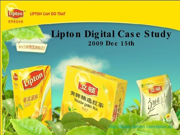 Lipton Digital Case Study 2009 Dec 15th http://lipton.renren.com/lipton.do