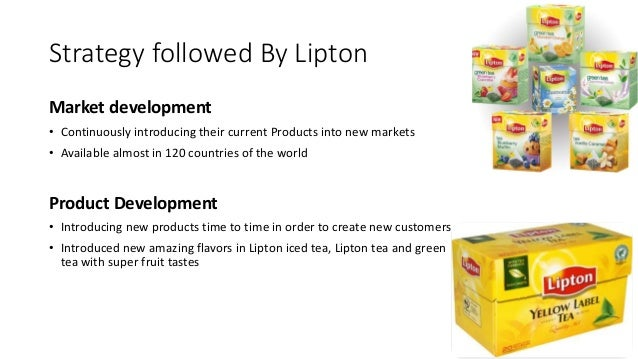 lipton marketing strategy Popular lipton and pg tips brands in specific  that drove unilever's value  creation strategy as such  historically, the tea market has shown a persistent  state.