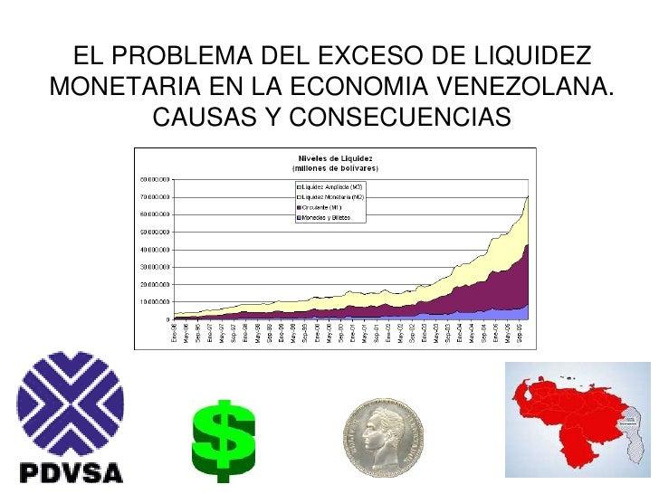 EL PROBLEMA DEL EXCESO DE LIQUIDEZ MONETARIA EN LA ECONOMIA VENEZOLANA.CAUSAS Y CONSECUENCIAS<br />