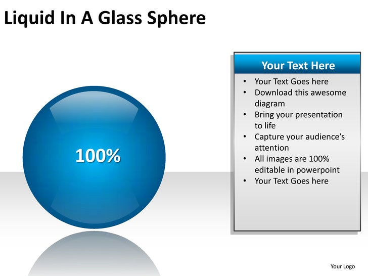 Liquid in a glass sphere powerpoint presentation templates