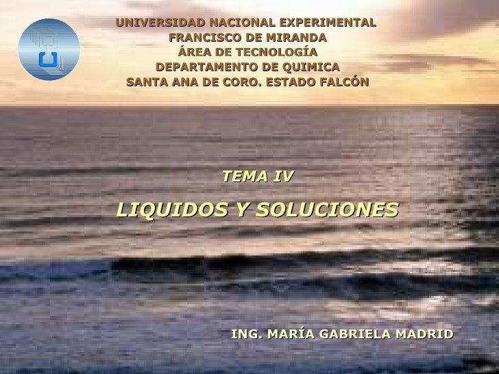 UNIVERSIDAD NACIONAL EXPERIMENTAL  FRANCISCO DE MIRANDA ÁREA DE TECNOLOGÍA DEPARTAMENTO DE QUIMICA SANTA ANA DE CORO. ESTA...