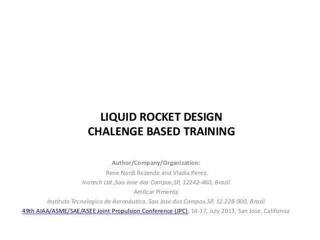 Liquid rocket design challenge based training