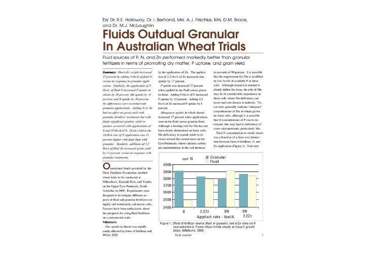 Liquid vs Granular in wheat