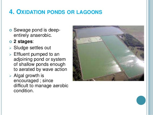 Liquid waste management for Design of oxidation pond