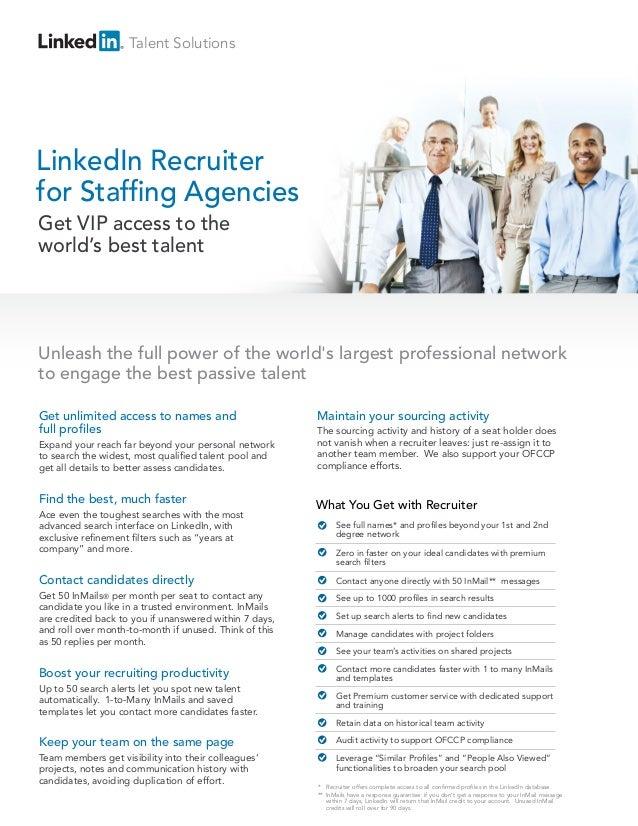 LinkedIn Recruiter for Stafng Agencies