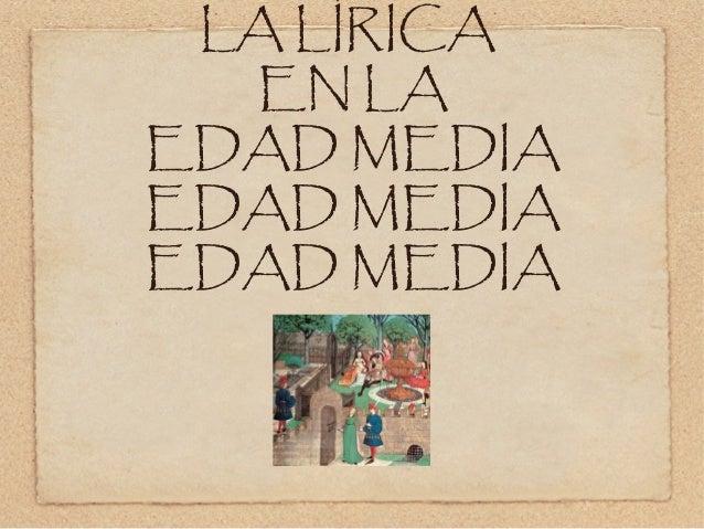 Lirica medieval 3ºESO