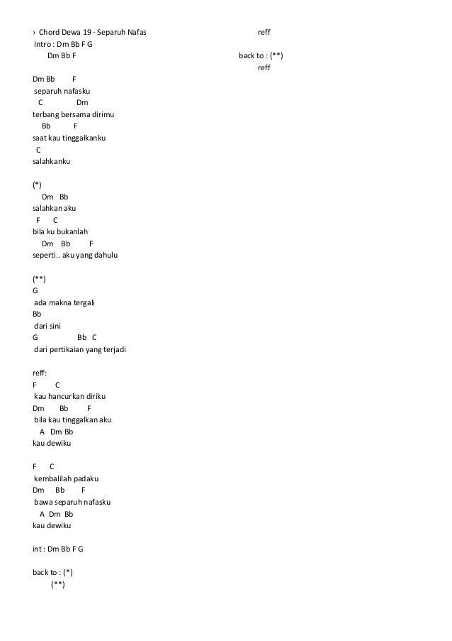 Lirik & chord lagu mix 1
