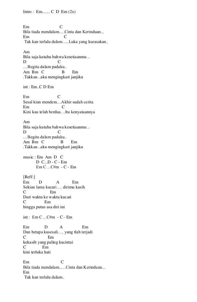 Permalink to Lirik Lagu Kerispatih Cinta Putih Dan Kunci Gitar