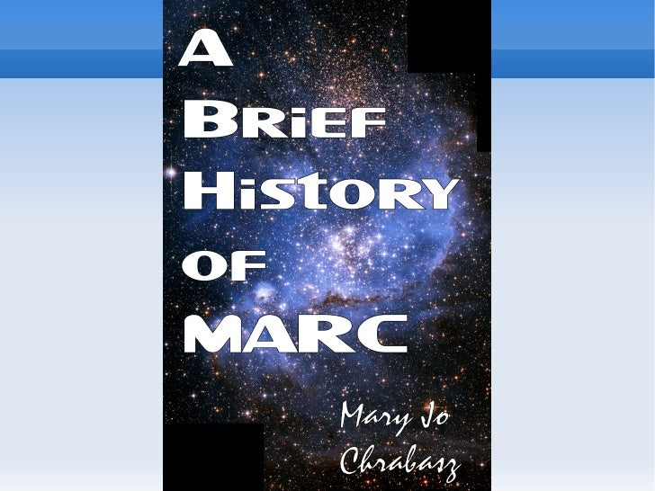 A brief history of MARC