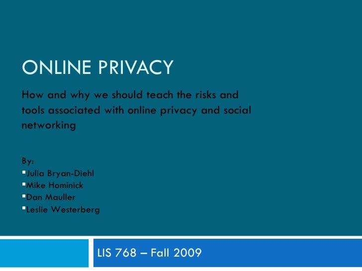 Lis 768 Privacy Presentation