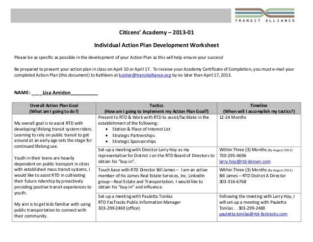 Citizens'Academy–2013‐01  IndividualActionPlanDevelopmentWorksheet  Pleasebeasspecificaspossibleinthede...