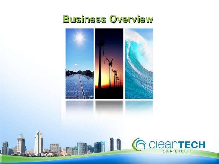 Business Overview of  CleanTech San Diego