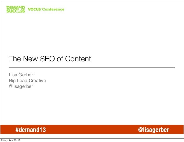 The New SEO of Content Marketing