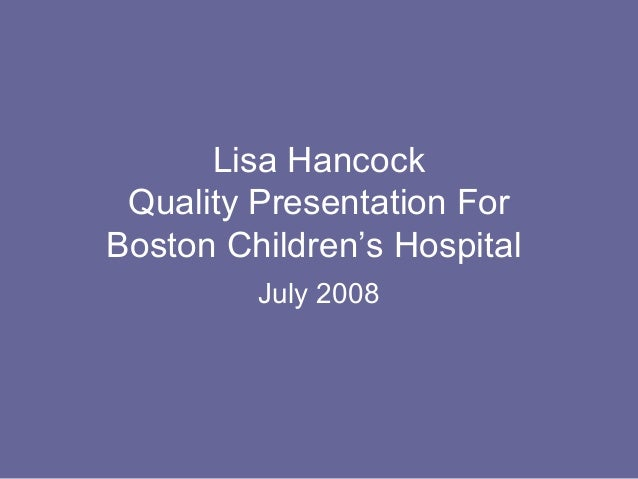Lisa Hancock OIG Board Quality Presentation