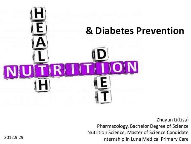 & Diabetes Prevention                                             Zhuyun Li(Lisa)                Pharmacology, Bachelor De...