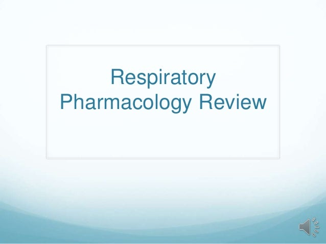 LLU Respiratory Pharmacology Review Podcast 2013