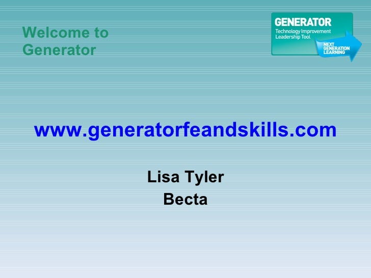 Welcome to Generator