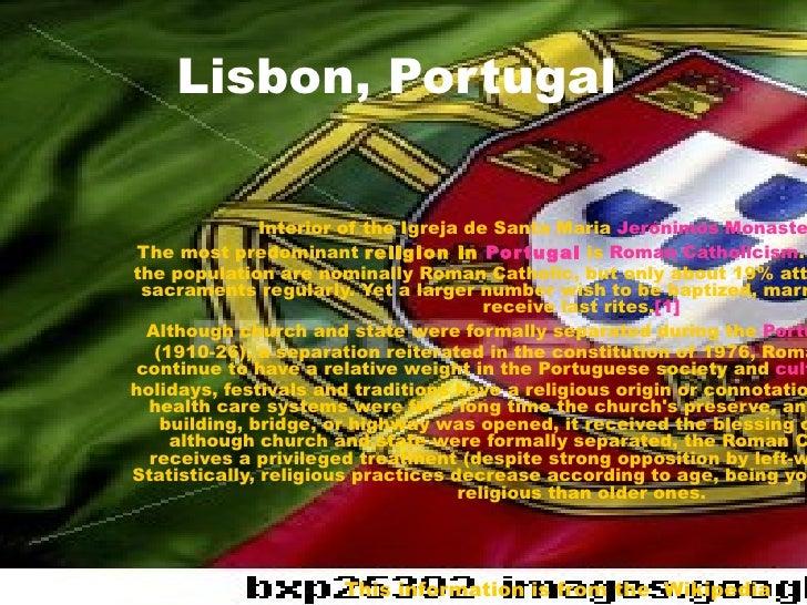 Lisbon, Portugal   Interior of the Igreja de Santa Maria  Jerónimos  Monastery , Lisbon The most predominant  religion in ...