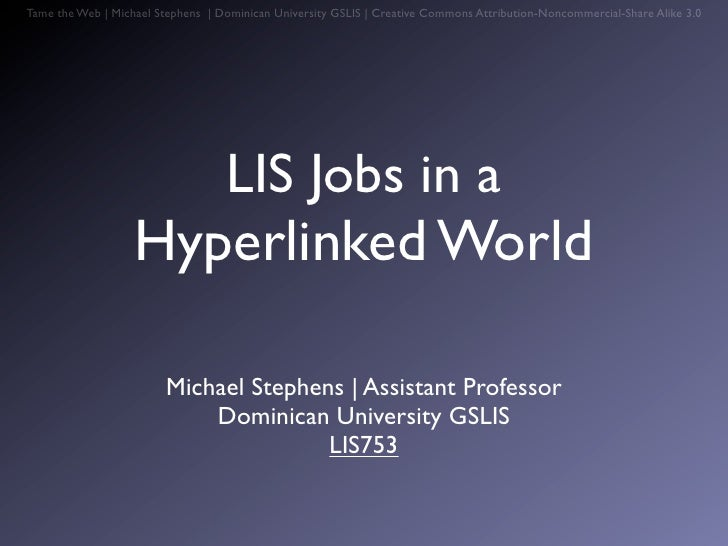 LIS Web jobs753 version