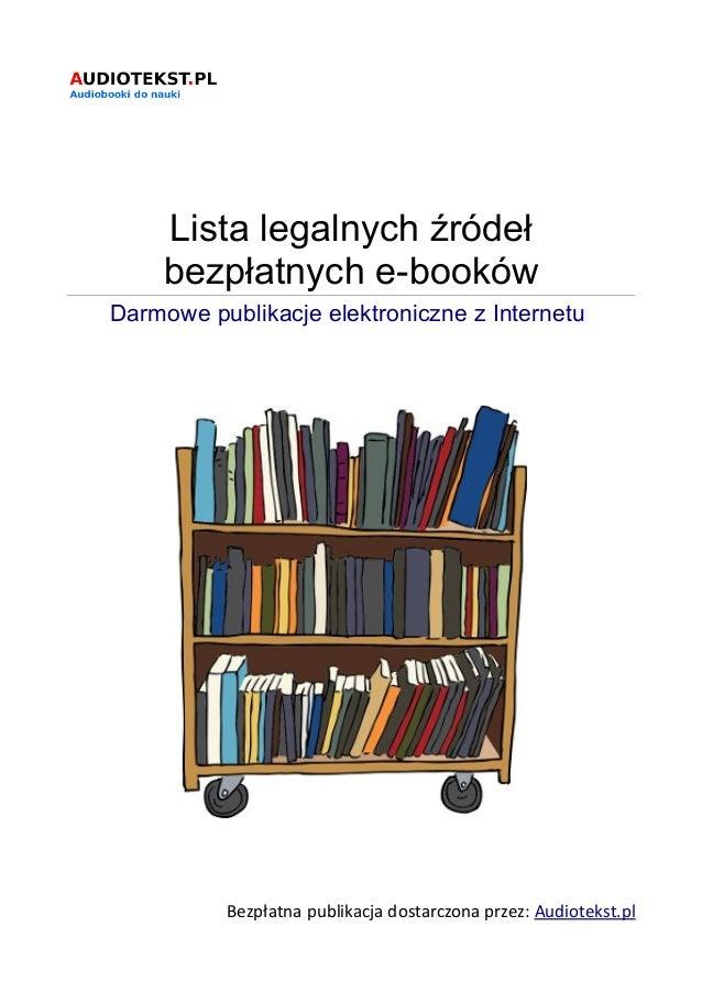 Lista legalnych źródeł bezpłatnych e-booków