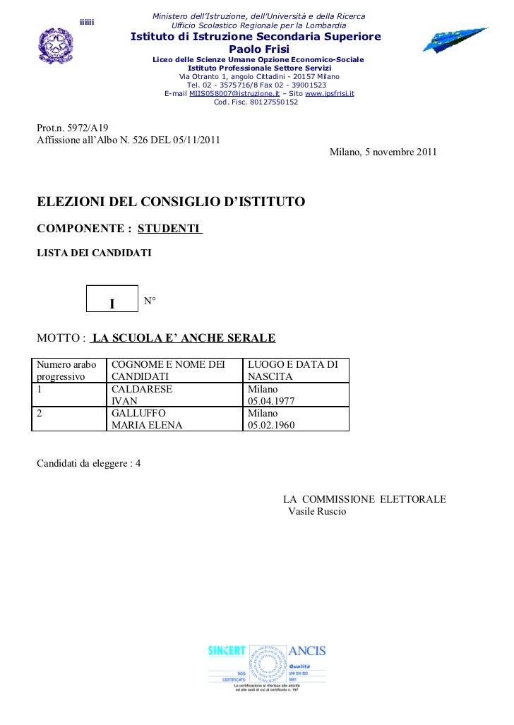 Ministero dell'Istruzione, dell'Università e della Ricerca          iiiiii                  Ufficio Scolastico Regionale p...