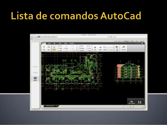 Lista de comandos AutoCad