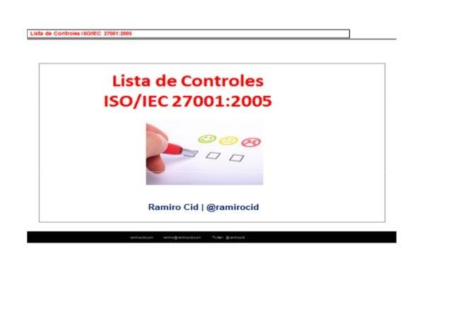 Lista de controles ISO/IEC 27001:2005