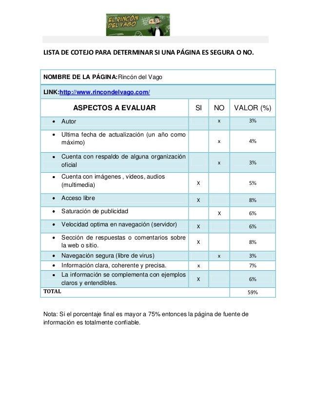 Lista De Cotejo Para Evaluar Educacion Fisica