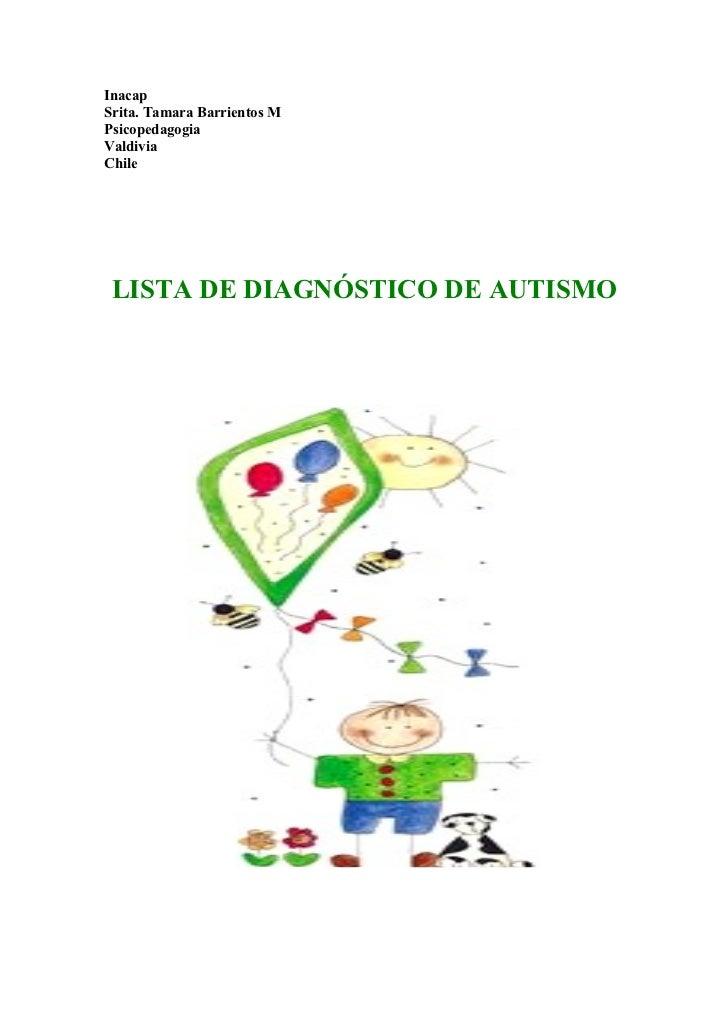 Lista de diagnostico del autismo