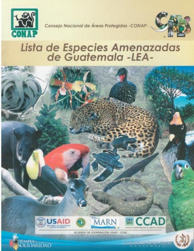 Lista de especies amenazadas de gutemala  lea