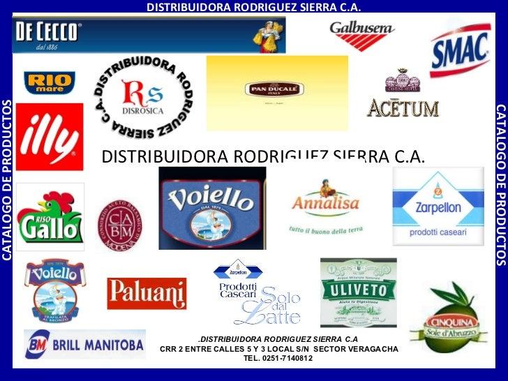 DISTRIBUIDORA RODRIGUEZ SIERRA C.A. DISTRIBUIDORA RODRIGUEZ SIERRA C.A. CATALOGO DE PRODUCTOS CATALOGO DE PRODUCTOS DISTRI...