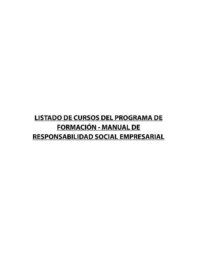 Listado de cursos manual rse