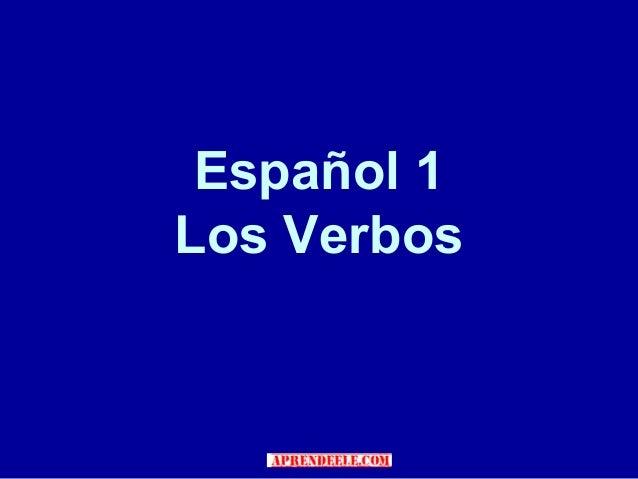 Listado de verbos