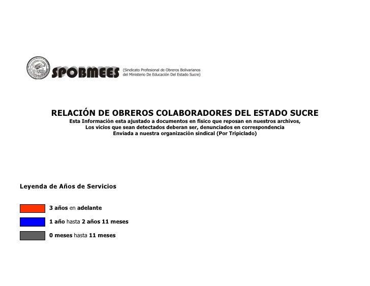 SPOBMEES DATA COLABORADORES Y COLABORADORAS ESRADO SUCRE CUMANA VENEZUELA
