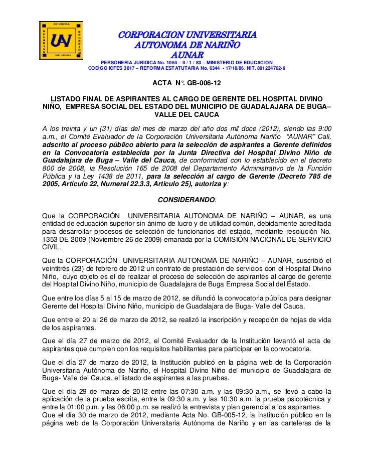 CORPORACION UNIVERSITARIA                             AUTONOMA DE NARIÑO                                   AUNAR          ...