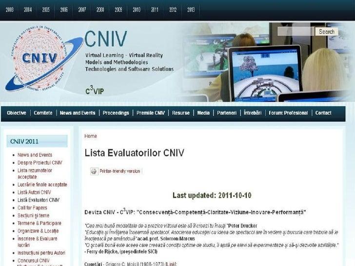 Lista evaluatorilor CNIV