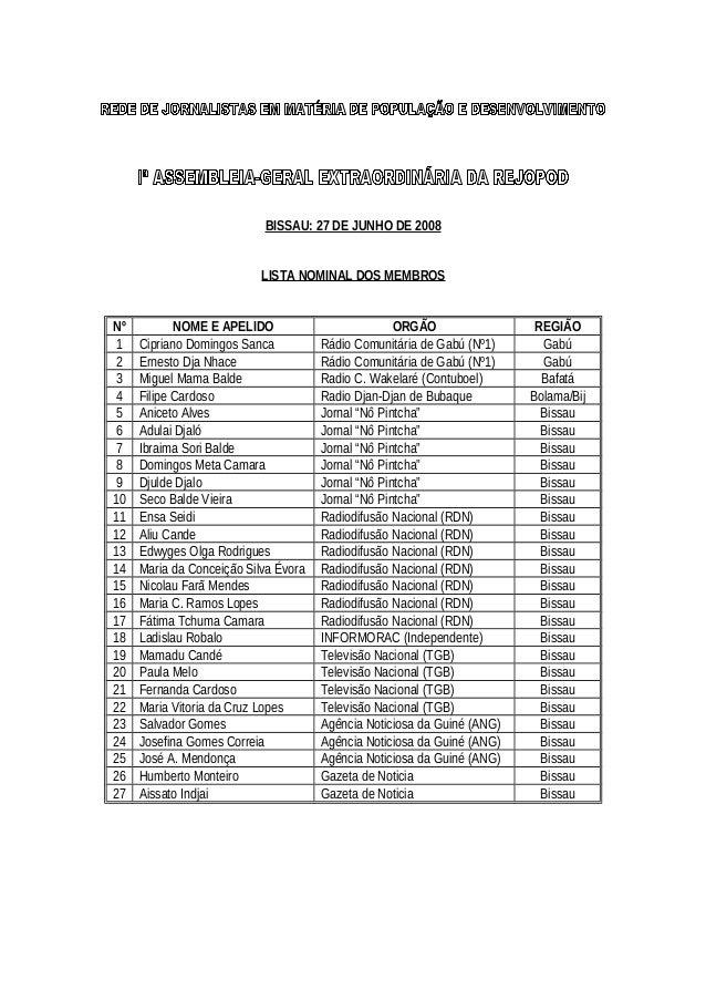 Lista membros rejopod