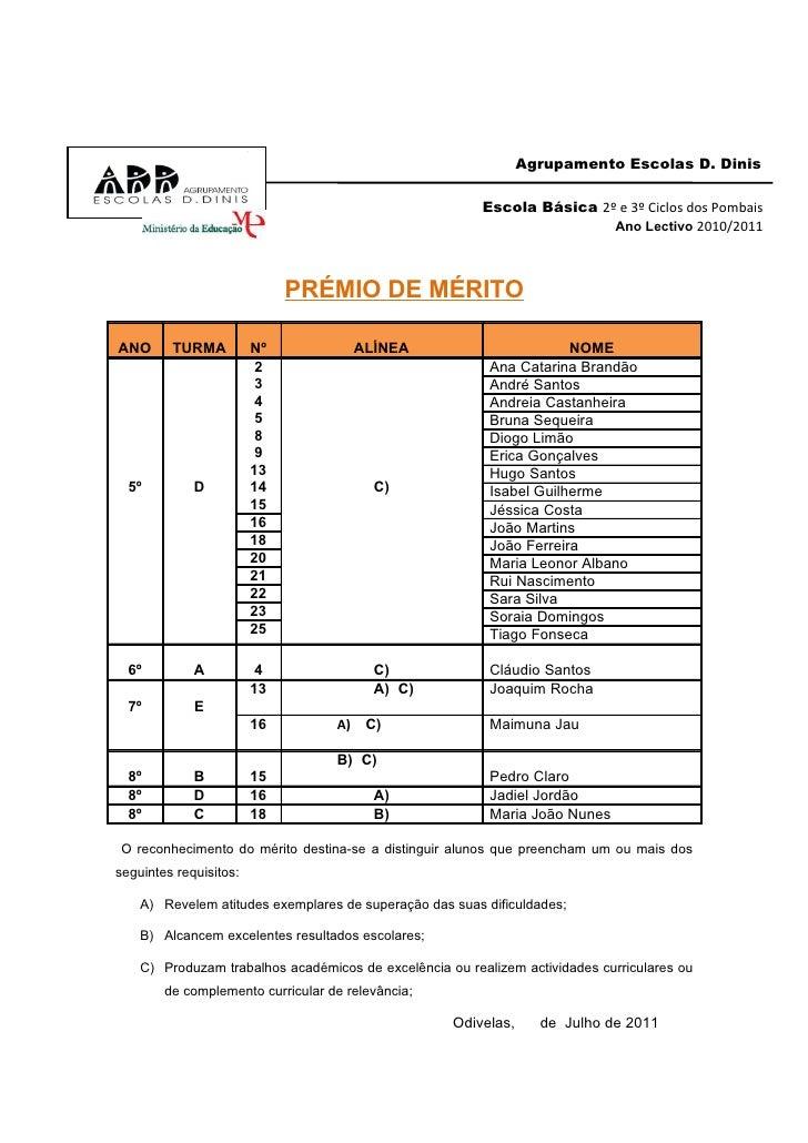 Agrupamento Escolas D. Dinis                                                         Escola Básica 2º e 3º Ciclos dos Pomb...