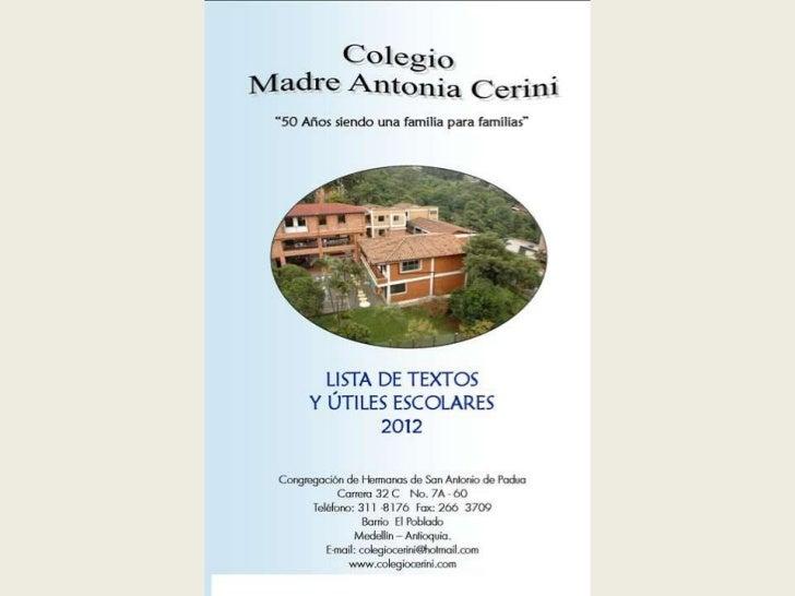 Lista textos y utiles 2012
