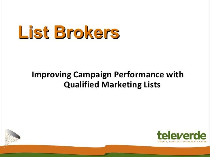 List Brokers - Televerde