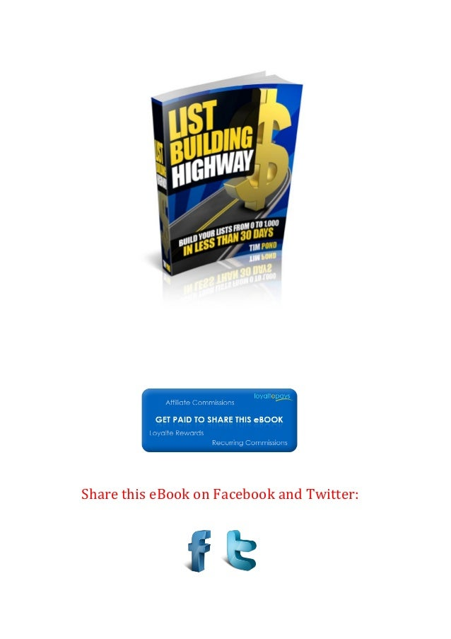 Share this eBook on Facebook and Twitter: