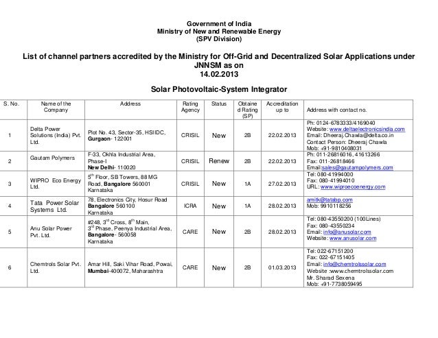 Government of India                                                                   Ministry of New and Renewable Energy...