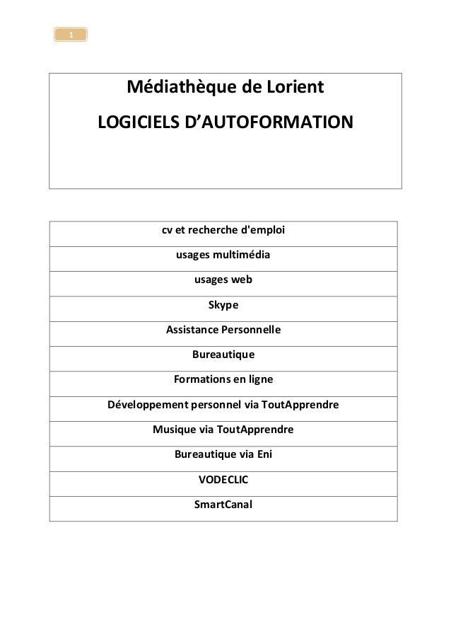 Liste des logiciels de la logithèque