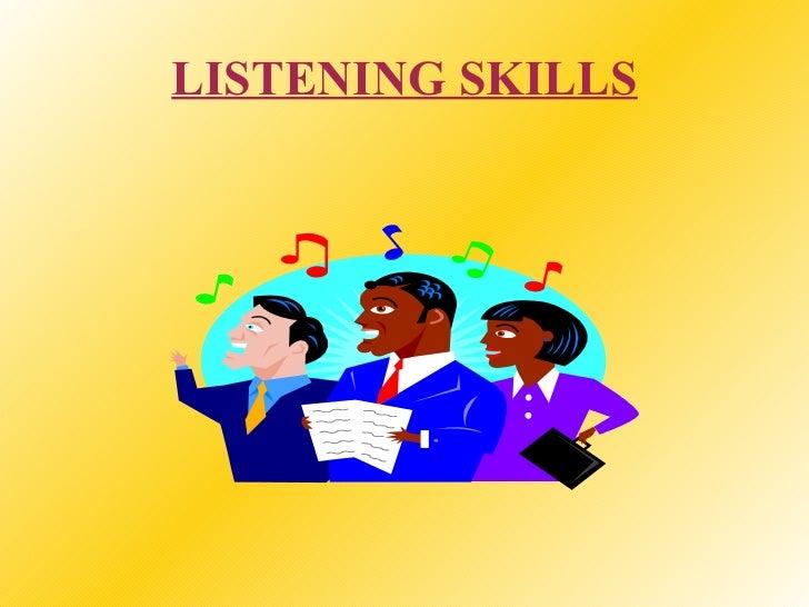 Listening skills-