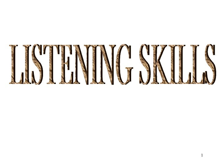 how to learn listening skills